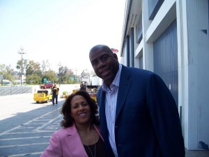 Pam Perry and Magic Johnson