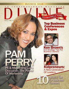 Pam Perry Divine Magazine cover