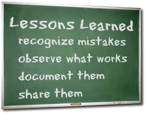 lessons learned in 2012