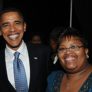 patti webster and president obama