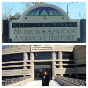 pam perry at the WRIGHT MUSEUM Detroit