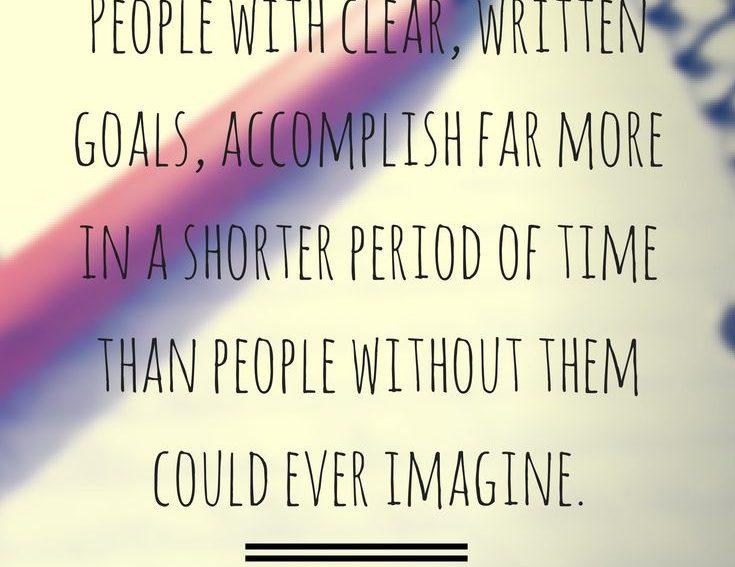 goals book planning