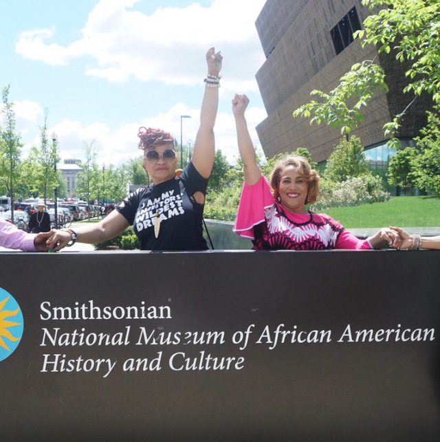 pam perry at african american museum and ghail rhodes
