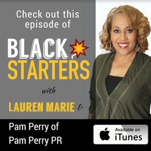 black started podcast cover with pam perry