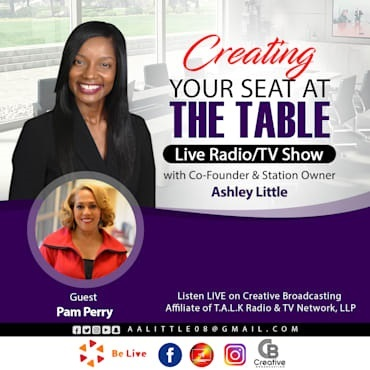 creating your seat at the table podcast cover