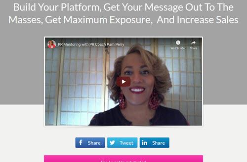 pam perry mentoring program site