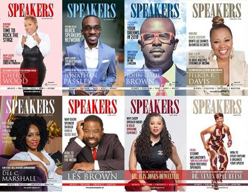 SPEAKERS magazine covers