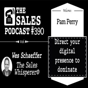 the sales podcast cover with pam perry