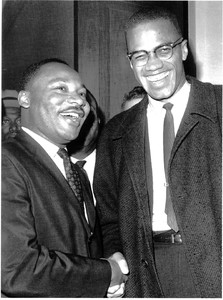 rev martin luther king and malcom x